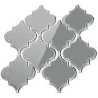 Shop SomerTile 12.375x12.5-inch Antaeus Grey Eye Porcelain Mosaic Floor and Wall Tile (10 tiles/10.7 sqft.) - Overstock - 9812411 Backsplash Arabesque, Arabesque Tile, Kitchen Backsplash, Backsplash Ideas, Tile Ideas, Blue Backsplash, Kitchen Cabinets, Glass Subway Tile, Glass Mosaic Tiles