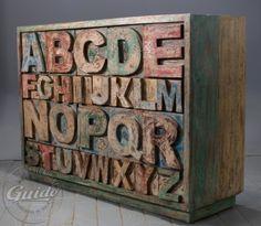 """ABC wooden reclaimed sideboard.   Komoda z szufladami """"ABC"""""""