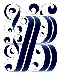 "Typeverything.com - Drop cap ""B"" by Thomas Amby Johansen."