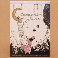 kawaii Memo Pad Sentimental Circus bunny Shappo moon Japan 1