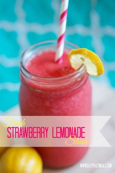 fresh strawberry lemonade slush