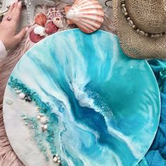 Commission - Whitsundays vibes – Resin artwork by ANTUANELLE, perfect for the home or office. Diy Resin Art, Epoxy Resin Art, Diy Resin Crafts, Ocean Artwork, Resin Artwork, Beach Art, Serenity, Original Art, Decoration