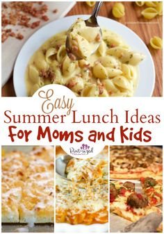 18 Crazy Easy Summer Lunch Ideas for Moms and Kids Lunch ideas for the summer that's easy! Easy summer lunch ideas that moms AND kids love! Plus an awesome giveaway to help you get summer started on the right foot! Lunch Ideas Kids At Home, Easy Lunches For Kids, Easy Summer Meals, Toddler Lunches, Quick Meals, Summer Recipes, Quick Easy Lunch Ideas, Kid Lunches, Lunch Snacks