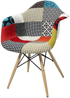 Cadeira DAW Eames com Braço Patchwork  - Bella Brasil Decor - Aqui Temos Black Friday o Ano Todo -  Produtos com Qualidade e Tradição