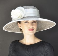 3f47ddd0c0ed Wedding Hat, Kentucky Derby Hat, Formal Hat, Taupe Hat, Ascot Hat, Ladies  Ivory Hat, Dressy Hat, Church Hat, Audrey Hepburn Hat. Kate Middleton ...