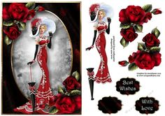 Birthday Ladies / Toppers / Card Making Debbie Moore, Art Deco Cards, Decoupage Printables, Parisians, 3d Pattern, 3d Cards, 3d Prints, Decoupage Paper, Handmade Birthday Cards