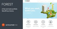 See More Forest - A flat and Bold portfolio Wordpress themeonline after you search a lot for where to buy