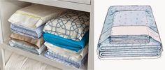 Essa é uma tática que muita gente já deve usar, e talvez para outros seja uma surpresa.. Mas a melhor forma de o rganizar a roupa de cama é...