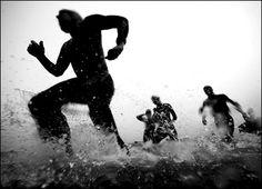 Grab your bike and your running shoes and take on the sport of duathlon. This is your resource for duathlon events and running and cycling tips that will hel. Ironman Triathlon, Triathlon Training, Triathlon Bikes, Santa Cruz Wharf, Triathalon, Running On The Beach, Open Water Swimming, Bike Run, Workout Machines