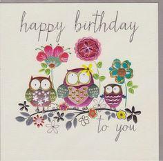 Happy Birthday Owl Pics Happy Birthday Card With Owls Happy Birthday Owl, Free Birthday Card, Happy Birthday Pictures, Happy Birthday Messages, Happy Birthday Quotes, Birthday Love, Happy Birthday Greetings, Birthday Pictures For Facebook, Birthday Blessings