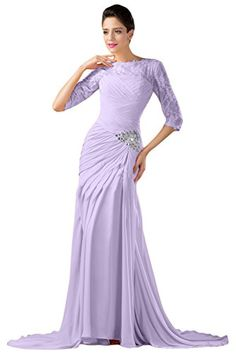 Sunvary Gorgeous Chiffon and Lace Mother of the Bride Dresses with Sleeves Evening Pageant Bridesmaid Dress for Prom Gowns US Size 8- Lilac Sunvary http://www.amazon.com/dp/B00PGKZGXU/ref=cm_sw_r_pi_dp_oUtavb03T3JA8