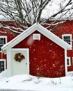 Winter barn..