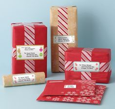 Have you started your #holiday mailings yet? Our #MarthaStewartHomeOffice holiday labels add the perfect touch to your parcels. Only at #Staples. #holidayorganization #Christmas #gifts