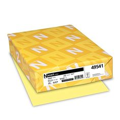 Neenah Exact Index, 110 lb, 8.5 x 11 Inches, 250 Sheets, Canary (pack of 6)