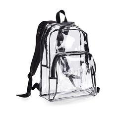 Clear with Black Trim Backpack - Polyvore Casa Dos Youtubers, 90s Grunge, Soft Grunge, Emo Scene, Rucksack Bag, Backpack Bags, Clear Backpacks, Cool Backpacks, Indie