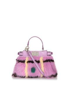 Micro Peekaboo mink-fur cross-body bag | Fendi | MATCHESFASHION.COM