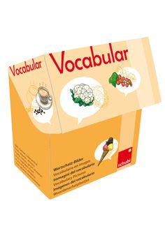 Vocabular Wortschatzbilder - Obst, Gemüse, Lebensmittel - SCHUBI Dutch Language, Teaching, Fruit, Pictures, Authors, Vocabulary, Words, Cards, Food