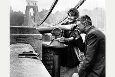 Cary Grant seeing the sights in his home town of Bristol.