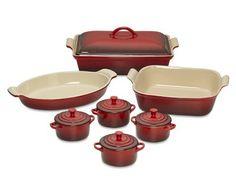 Mi próximo auto regalo  Le Creuset Heritage Stoneware 12-Piece Bakeware Set, Red on Williams-Sonoma.com