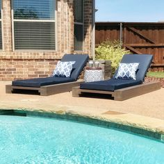 """Got these bad boys stained, finished and added the cushions. Now it's time to enjoy the fruits of…"""""""