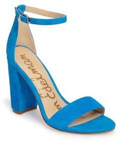 58d87d1a2b2 Beautiful eye catching blue women s high heels - Ankle Strap Sandal Shoes  Footwear Ankle Strap Heels