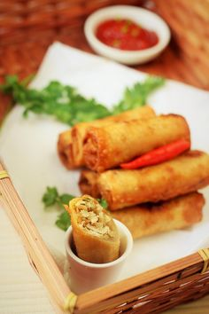 chicken spring roll recipe ~ Tasted great! Maybe try a higher cabbage to carrot ratio. AND ADD SPRING BEANS. in the oven instead of frying? remember salt!!!!!
