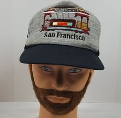d4368868 VINTAGE SAN FRANCISCO SNAPBACK TRUCKER HAT CAP NWOT GOLDEN DAD HAT TROLLEY