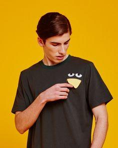 Don't Hug Me I'm Scared for Lazy Oaf - Duck Pocket Tshirt