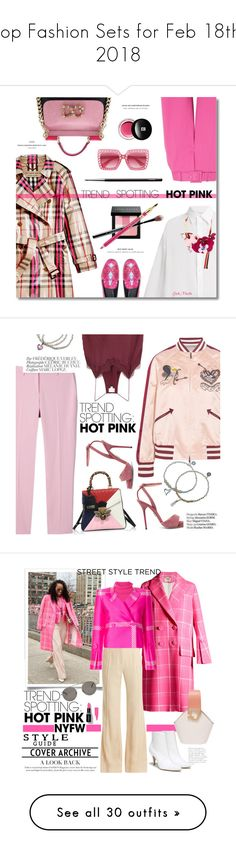 """""""Top Fashion Sets for Feb 18th, 2018"""" by polyvore ❤ liked on Polyvore featuring Burberry, Raey, Marni, Oscar de la Renta, Versace, Bobbi Brown Cosmetics, Estée Lauder, Dolce&Gabbana, Edward Bess and Gucci"""