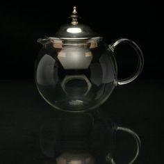 Herbal Tea Pot (small) | Glass & Silver | The Wolseley