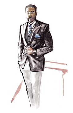 Daily Fashion Illustration Jarreau Jackson