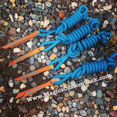 Magics Custom Tack Turquoise 10 foot lead ropes with stamped poppers. Great for the barn or awards!  Www.magicscustomtack.com