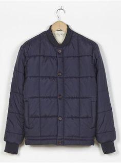 Universal Works Dundee Jacket in Navy Matt Nylon