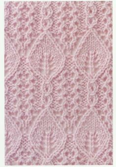TOT TRICOT: puntos fantasia con hojas love love love this stitch pattern Lace Knitting Stitches, Crochet Stitches Patterns, Knitting Charts, Lace Patterns, Loom Knitting, Knitting Designs, Free Knitting, Knitting Projects, Stitch Patterns