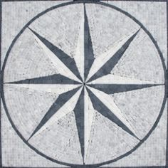 Floor Medallion... this would be great in a shower... or maybe an entryway?