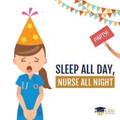 Hate parties and don't want a social life? A thrilling career as a night-shift nurse is just for you! :D  #nursing #continuingeducation