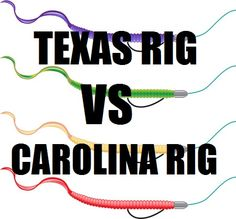 Texas Rig vs Carolina rig, a showdown between the two most popular ways to rig a. - Texas Rig vs Carolina rig, a showdown between the two most popular ways to rig a plastic worm. Bass Fishing Lures, Pike Fishing, Fishing Knots, Crappie Fishing, Carp Fishing, Best Fishing, Saltwater Fishing, Fishing Stuff, Crappie Rigs