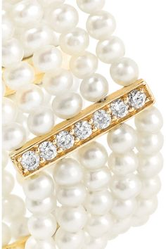 Anissa Kermiche - 14-karat Gold, Diamond And Pearl Ring - 6