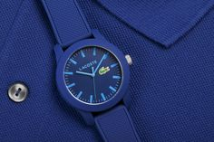 Introducing the #Lacoste1212 #watch for both #men & #women in #blue. The Lacoste poloshirt in a watch collection.