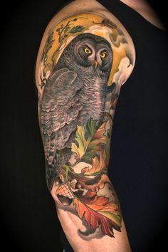 Great Grey Owl Tattoo Skin Art, Guy Tattoo, Grey Owl, Ben, Owls, Owl Tattoos, Ink, Tattoo Anim