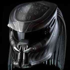 AMAZING !!! PREDATOR HELMET DOT APPROVED - BLACK