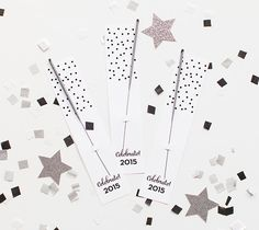 New Year's Eve sparkler holder by The TomKat Studio. Make It Now in Cricut Design Space.