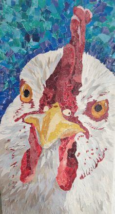 Fine art - Magazine collage rooster by Shelley Schenker. Week 1 of the 52 week challenge.