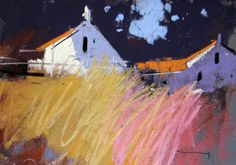 Shadow Farm by tony allain pastel on sanded paper
