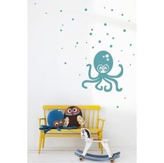 Octopus Turquoise - Wall Decals