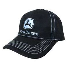 LP49282 John Deere Gameday Hat//Cap Black//Green//Yellow