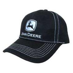 LP49282 John Deere Gameday Hat//Cap Black//Green//Yellow
