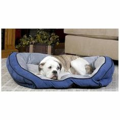 K & H Bolster Pet Couch - Large/Blue KH-7322 - http://www.thepuppy.org/k-h-bolster-pet-couch-largeblue-kh-7322/