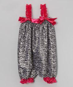 Look at this #zulilyfind! Hot Pink Zebra Bubble Romper - Infant, Toddler & Girls by Wenchoice #zulilyfinds