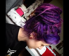 Beautiful purple dreads